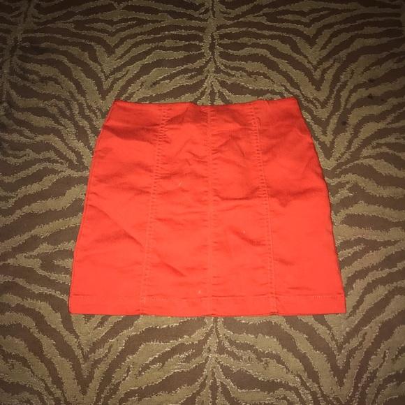 Forever 21 Dresses & Skirts - Orange mini skirt with zipper at the back